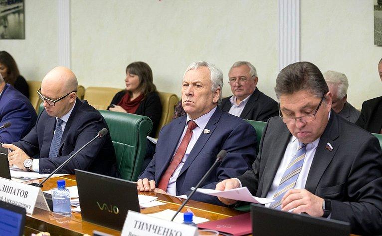 Заседание Комитета Совета Федерации поэкономической политике