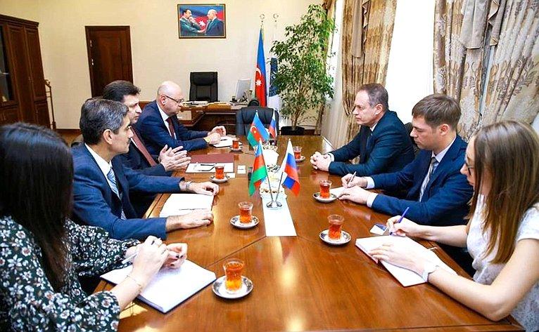 Александр Башкин встретился сректором Азербайджанского медицинского университета Герай Герайбейли