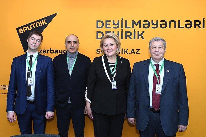 Делегация Совета Федерации, посетившая Азербайджан для наблюдения запроведением выборов вМилли Меджлис