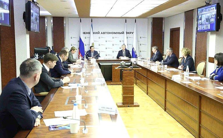 Совещание, накотором главы Ненецкого автономного округа иАрхангельской области договорились оподготовке квыдвижению инициативы пообразованию нового субъекта