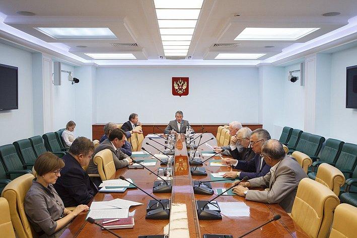 Заседание комиссия СФ по контролю за достоверностью сведений о доходах сенаторов -7