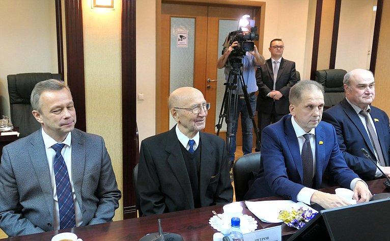 Церемония вручения почетного знака Совета Федерации «Зазаслуги вразвитии парламентаризма»