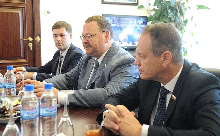 Делегация Совета Федерации воглаве сО. Мельниченко посетила свизитом Азербайджанскую Республику