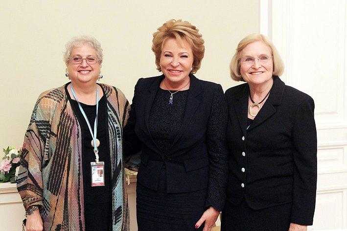 Встреча В. Матвиенко с представительницами США