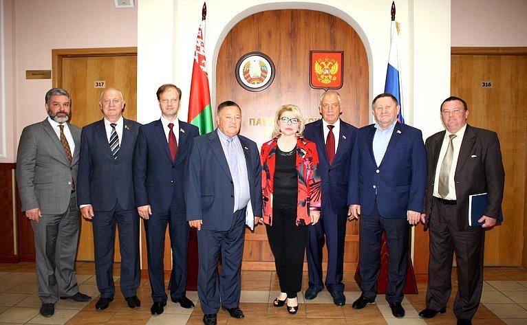 Участники заседания Комиссии Парламентского Собрания Союза Беларуси иРоссии поэкономической политике