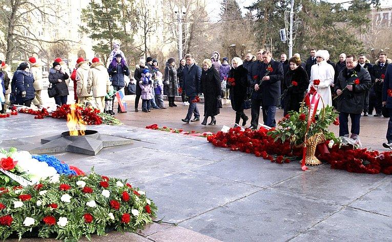 Т. Лебедева приняла участие вторжественных мероприятиях вВолгограде вчесть 75-летия победы вСталинградской битве