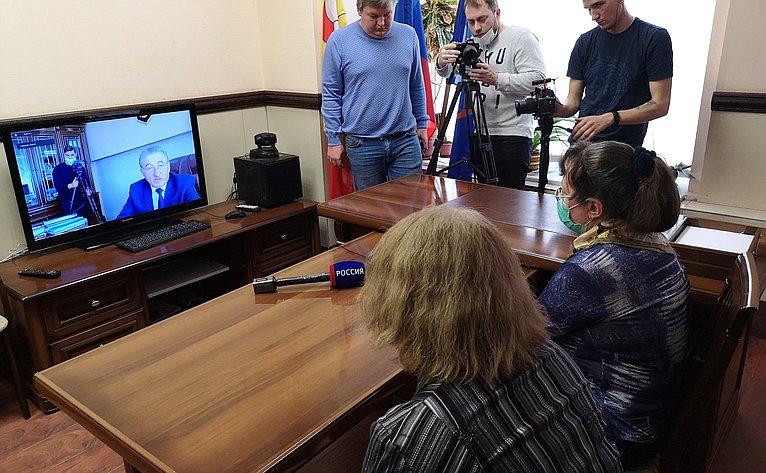 Сергей Лукин провел прием граждан вонлайн-формате