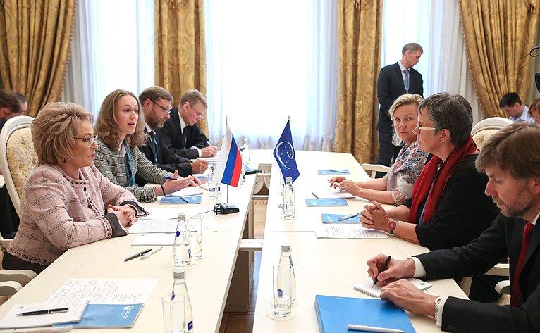 Встреча Председателя СФ сПредседателем ПАСЕ