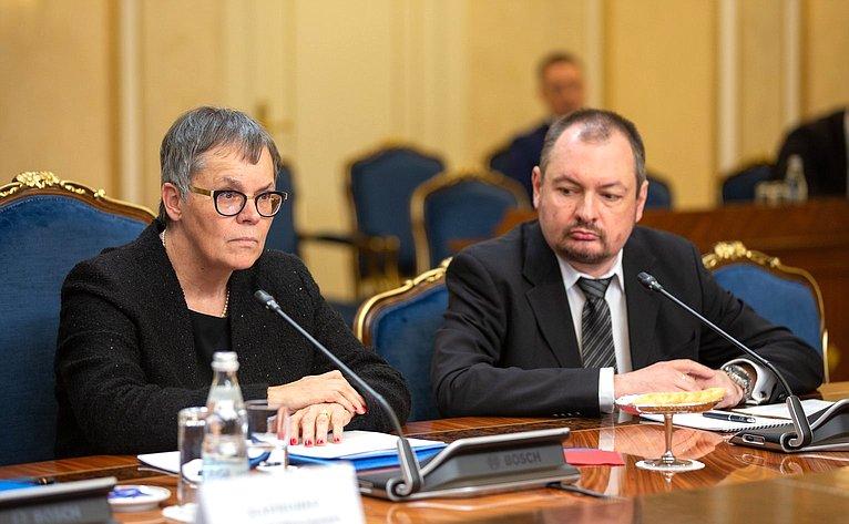 Встреча В. Матвиенко сПредседателем Парламентской ассамблеи Совета Европы Лилиан Мори Паскье