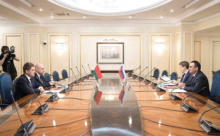 Встреча Н. Федорова сЧрезвычайным иПолномочным Послом Республики Беларусь вРоссийской Федерации И. Петришенко