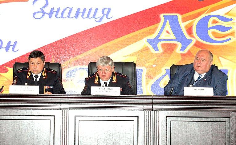 С.Аренин принял участие вторжественном мероприятии, посвященном Дню знаний, вАкадемии управления МВД России