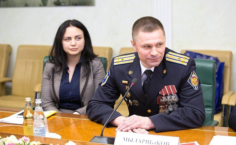 Встреча В. Новожилова сюнармейцами Архангельской области