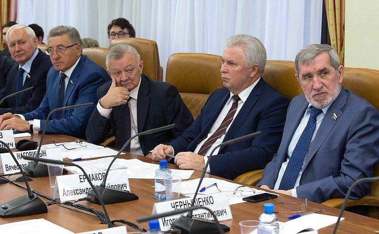 Заседание Комитета Совета Федерации пофедеративному устройству, региональной политике, местному самоуправлению иделам Севера