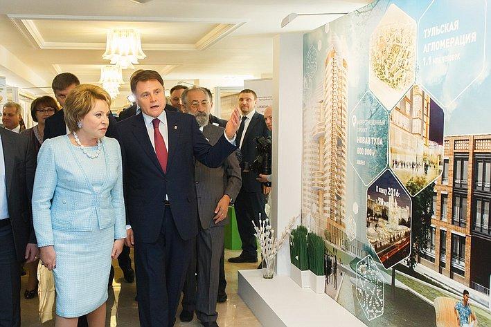 Открытие выставки Тульской области вСовете Федерации. Июнь 2014