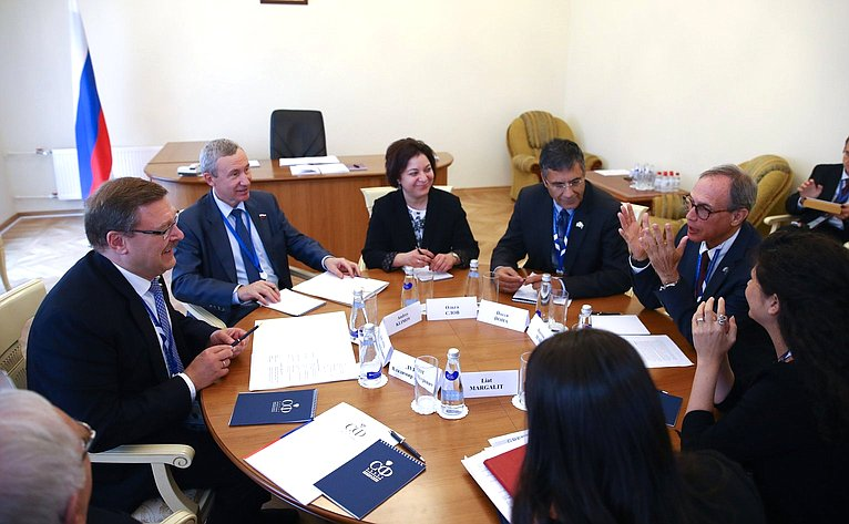 Встреча К. Косачева спредставителями делегации Государство Израиль