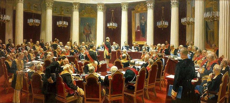 Торжественное заседание Государственного совета 7мая 1901года. Худ. И. Репин