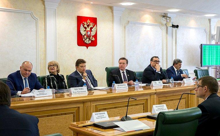 Заседание Комитета СФ побюджету ифинансовым рынкам сучастием представителей органов власти Северной Осетии