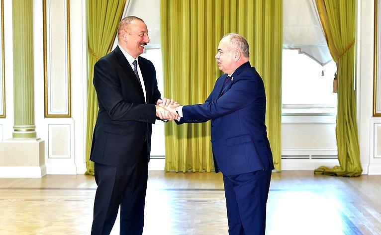 Ильхам Алиев иИльяс Умаханов