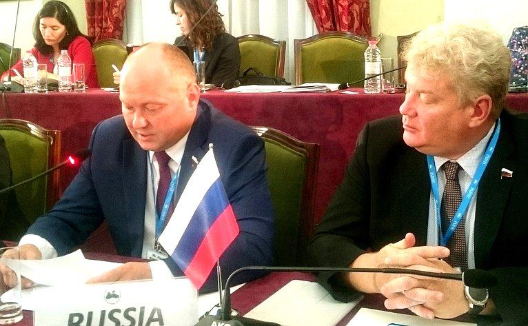 А. Кондратенко выступил на49-м заседании Комитета ПА ЧЭС поэкономическим, торговым, технологическим иэкологическим вопросам