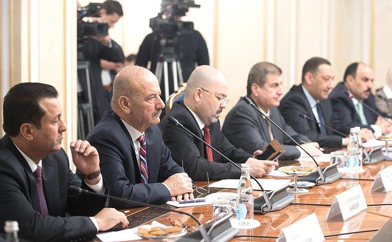 Встреча К. Косачева спредседателем Комитета помеждународным делам Совета представителей Республики Ирак Абдельбари Зибари