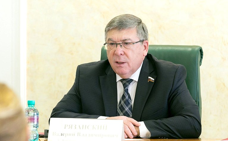 В. Рязанский назаседании Комитета СФ посоциальной политике