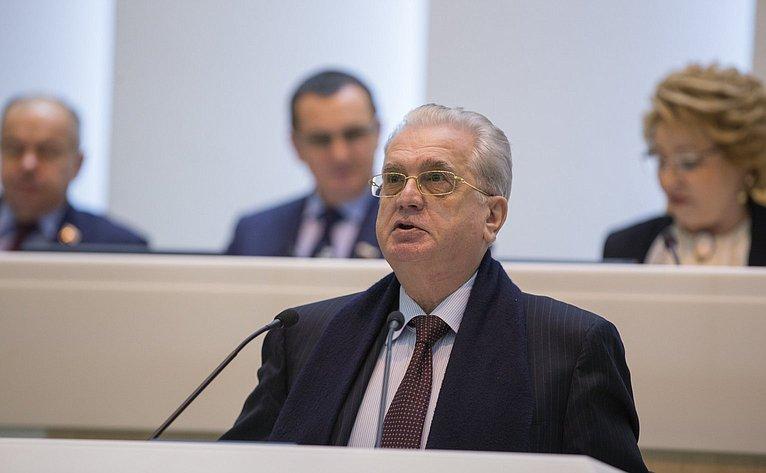 М. Пионтровский на386-м заседании Совета Федерации