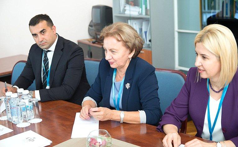 Встреча председателя Комитета СФ помеждународным делам К. Косачева сделегацией Республики Молдова воглаве сЗ. Гречаный