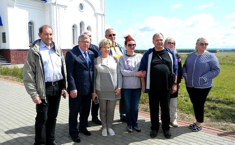 Валерий Рязанский принял участие вторжественных мероприятиях вчесть 76-й годовщины Прохоровского танкового сражения Курской битвы