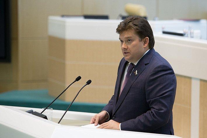 Журавлев 383-е заседание Совета Федерации