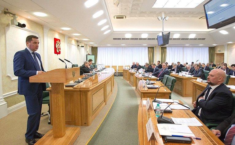 Заседание президиума Совета поАрктике иАнтарктике при Совете Федерации, посвященное рассмотрению проекта федерального закона «Оразвитии Арктической зоны РФ»