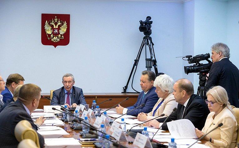 Заседание Временной комиссии Совета Федерации позащите государственного суверенитета ипредотвращению вмешательства вовнутренние дела Российской Федерации