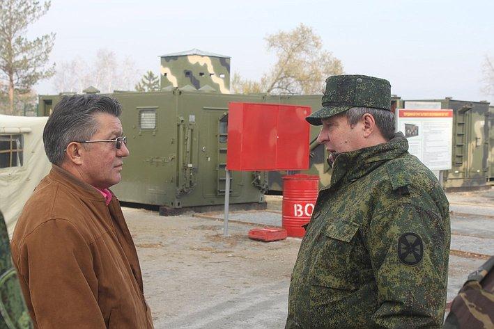 Визит В. Озерова вотряд специального назначения «Тайфун» Внутренних войск