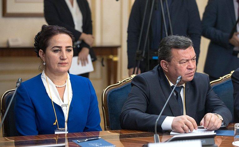 Встреча В. Матвиенко сПредседателем Маджлиси мили Маджлиси Оли Республики Таджикистан М. Убайдуллоевым