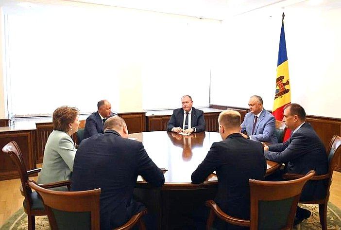 Встреча делегации Совета Федерации сПрезидентом Республики Молдовы Игорем Додоном