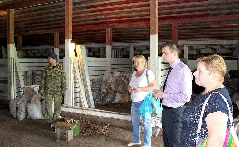 Д. Шатохин посетил срабочей поездкой Княжпогостский район Республики Коми