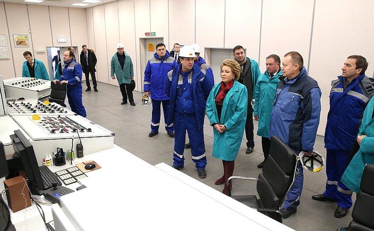 В. Матвиенко наЛипецком металлургическом комбинате