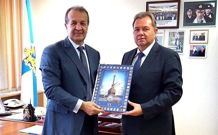 В. Павленко провел рабочую встречу сисполнительным директором Союза городов Воинской славы И. Сунгуровым