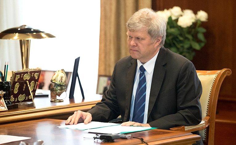 Валентина Матвиенко приняла председателя Московского регионального отделения партии «Яблоко» Сергея Митрохина
