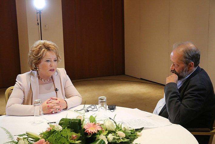 16-09 Матвиенко интервью греческие СМИ