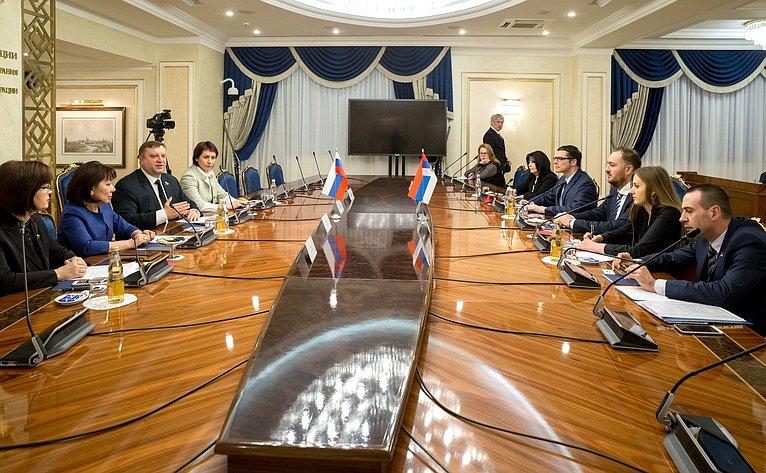 Встреча А. Кондратьева спредседателем Комитета Народной скупщины Сербии повопросом диаспоры исербов врегионе И. Костичем