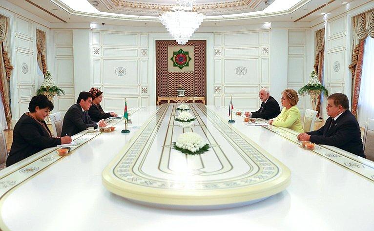 Встреча В. Матвиенко сПрезидентом Туркменистана Г.Бердымухамедовым