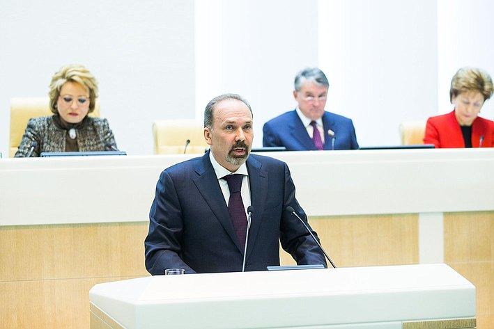 М. Мень на385-м заседании Совета Федерации