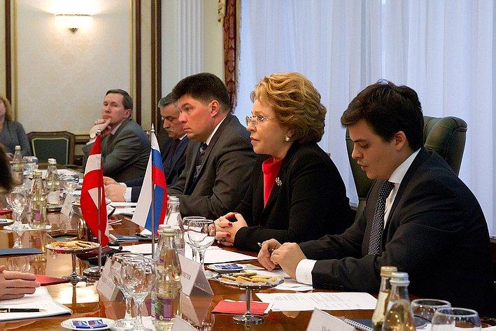 Встреча Валентины Матвиенко с Президентом Федерального совета Австрийской Республики Райнхардом Тодтом 2