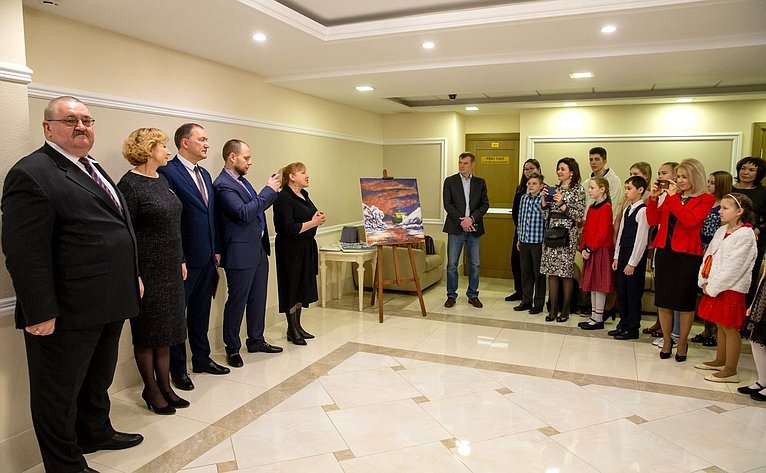 Открытие вСовете Федерации выставки работ победителей Молодежного историко-культурного фестиваля