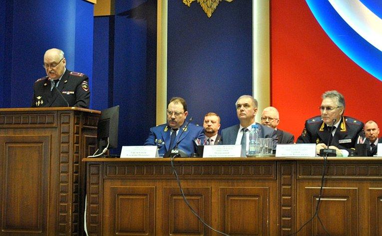 Алексей Кондратьев принял участие врасширенном заседании коллегии управления МВД России поТамбовской области