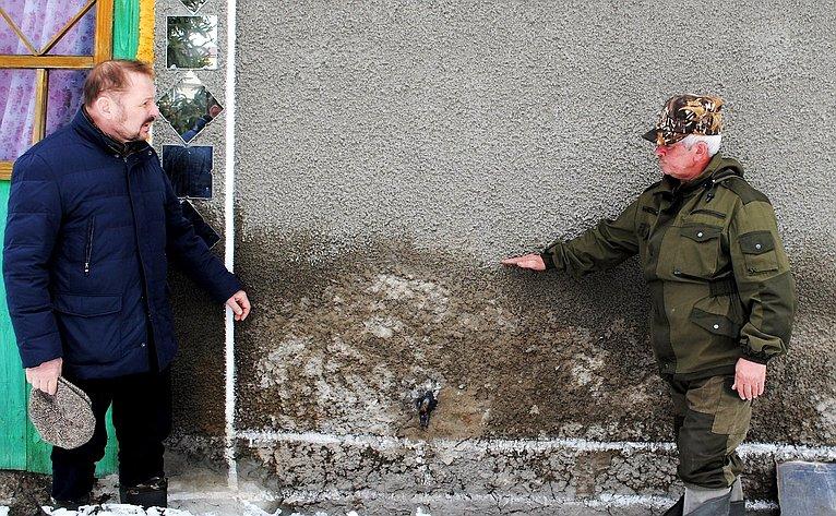 С. Белоусов посетил Петропавловский район, подвергшийся наводнению