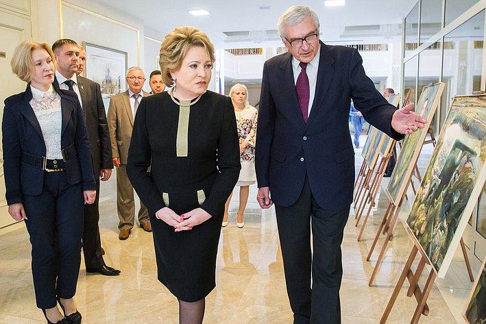 В. Матвиенко. Открытие выставки