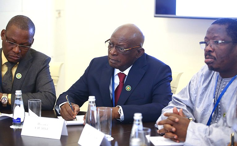 Юрий Воробьев провел встречу сПредседателем Национального собрания Республики Мали Иссакой Сидибе