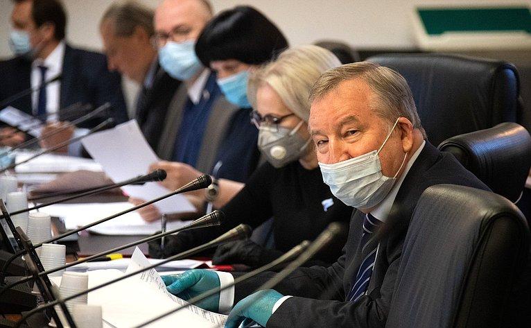 Совместное заседание Комитета СФ поконституционному законодательству игосударственному строительству иКомитета СФ попообороне ибезопасности