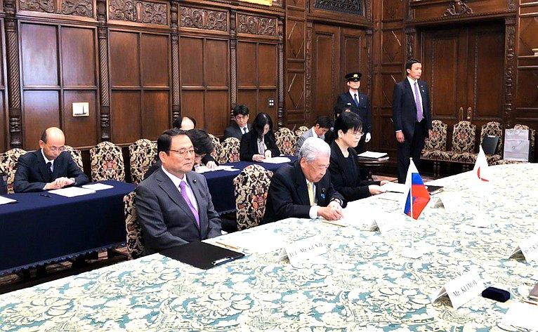Встреча Андрея Турчака сПредседателем Палаты советников Парламента Японии Тюити Датэ
